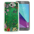 For Samsung Galaxy J3 PRIME Liquid Glitter Quicksand Hard Case Phone Cover