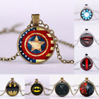 Superhero Batman X-man Cabochon Glass Tibet Silver Chain Pendant Necklace Gift