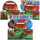 NFL Drive Superbowl Tableware Kits Party Packs - For 8 or 16 Guests