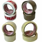 72 Rolls Yuzet PACKING TAPE brown clear fragile printed buff sealing box carton