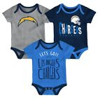 "Los Angeles Chargers NFL ""Little Tailgater"" Newborn 3 Pack Bodysuit Creeper Set $19.95 USD on eBay"