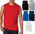 GILDAN MENS TANK TOP Preshrunk Cotton Sleeveless Muscle Tee T-Shirt S,M,L,XL, 2X image