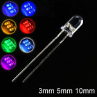 Внешний вид - Clear Ultra Bright LED Diodes 3/5/10mm White Yellow Red Green Blue Pink Purple