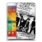 OFFICIAL AC/DC ACDC LYRICS HARD BACK CASE FOR SAMSUNG PHONES 2