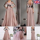Uk Women Formal Long Lace Dress Prom Evening Party Cocktail Bridesmaid Wedding