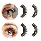 3Pairs/Box 3D False Eyelashes Curly Natural Full Strip Lashes Extension Tool