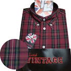 Warrior UK England Button Down Shirt CLIFF Slim-Fit Skinhead Mod Retro