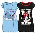 womens Ladies Nightshirt Nighties Nightdress Nightwear EEYORE DISNEY
