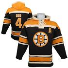 Boston Bruins Bobby Orr Lacer Pullover Hoodie Hoody Jersey Old Time Hockey