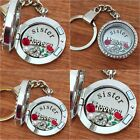 Xmas gift locket Keyring Necklace for auntie sister friend nanny mum cousin