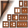 Ruston Sponged Copper Switch Plate Outlet Cover Toggle Duplex Wallplate Rocker