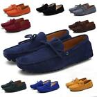 Plus size 6-13.5 Men Loafers Driving Moccasins Casual Suede Leather Comfy Shoes
