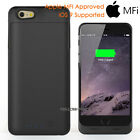 For iPhone 6 6S Plus/ iPhone 5 5S SE  MFI Charging Battery Case Cover Skin Black