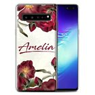 PERSONALISED CUSTOM FLORAL TRANSPARENT PHONE CASE FOR SAMSUNG GALAXY GEL COVER