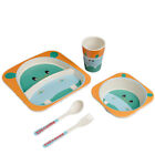 5Pcs/Set  Dinnerware Set Kids Animal Pattern With Fork Bowl Children's Tableware