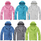 Women Mens Rain Coat Hoodies Jogging Hiking Waterproof Windproof Jacket Outwear