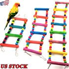 Pet Bird Supplies Climb Cableway  Toys Wood Ladder Rope Pet Parrot Hamster Toys