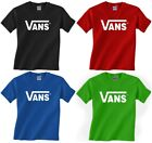 New adult VANS classic logo t-shirt skateboard tee warped tour - Small to 2XL image