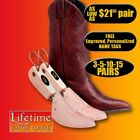 Rochester Women's Western Boot Tree FREE Personalized Engraving 3-5-10-15 Pairs