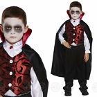 BOYS VAMPIRE DRACULA FANCY DRESS COSTUME DELUXE HALLOWEEN OUTFIT CHILDS KIDS