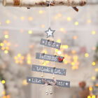 Christmas Tree Letter Bead Bow Bell Pendant Hanging Ornament Party Decorations
