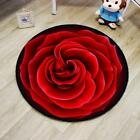 Round Rose Floor Carpet Modern Floral Pattern Lovely High Quality Room Accessory