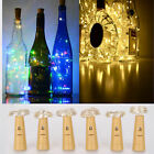 6x DIY LED Beer Bottle Cork String Wine Lamp Fairy String Battery Starry Lights
