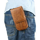 New Button Belt Holster Magnetic Flip Leather Pouch Case Cover for Mobile Phone