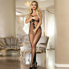 Sexy Bodystocking BOWS in Black  8 10 12  14 16 Very Sexy Fishnet with BOWS