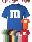 M & M T-Shirt Halloween T shirt Costume M and M  Costumes Tee image