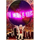 "Alec Monopoly ""The world is yours"" Oil Painting on Canvas Urban Art Poster"