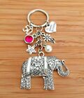 Happy Birthday ELEPHANT Gift keyrig 13th 15th 16th 18th 21st 30th / Gift for her