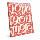 'Love You More on Red' Acrylic Wall Art
