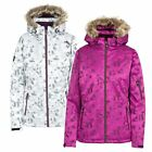 Trespass Merrion Women Ski Jacket Padded with Hood in Purple and Silver Grey