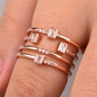 Creative rose gold filled Wedding Rings for Women White Sapphire Size 6-10 image