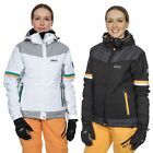 Trespass Rosan Women's DLX Waterproof Ski Jacket with Hood in Black & White