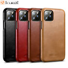 For iPhone XS MAX XR 6S 7 8+ Case ICARER Genuine Real Cowhide Leather Flip Cover