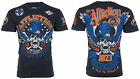 AFFLICTION Mens T-Shirt STRAIGHT SIX American Customs Motorcycle Biker UFC $58 image