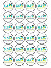 24 x Edible Personalised Bespoke Business Logo Promotional Cake Cupcake Toppers