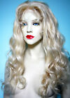 Light Blonde #613 Curly Wavy Glueless Lace Wig Indian Human Hair Remi Remy Long