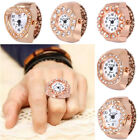 Quartz Analog Creative Steel Cool Elastic Quartz Finger Ring Watch Rose Gold CA image