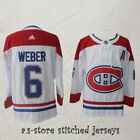6 Hockey Jersey Men All Sewn Montreal Canadiens White Shea Weber Jersey