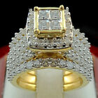 Uk Gold Big Wide Ring Luxury Cubic Zircon Fashion Engagement Rings For Women New
