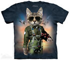 The Mountain Cotton Tom Cat Design Novelty Adult T-Shirt (Blue)