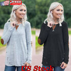 Womens Autumn Fashion Long Sleeve T-shirt Pullover Loose Ladies Tops Blouse New