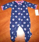 NEW CARTERS BABY GIRLS FLORAL DESIGN MICRO SNAP SLEEPER NB 3M 6M 9M