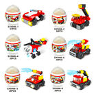 Street View Series/Fire Rescue Team Building Blocks Creative Egg Christmas Gift