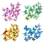 12pcs 3d Butterfly Sticker Art Wall Stickers Decals Room Decorations Home Decor