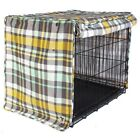 Molly Mutt Northwestern Plaid Dog Crate Cover 100% Washable Cotton Ship FREE**