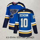 10 St Louis Blues Men Brayden Schenn Hockey Jersey Blue Home All Sewn